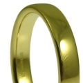 18ct Heavy Cushion Court Profile Wedding Rings