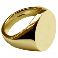 9ct Yellow Gold Stamped Plain Oval Signet Rings Extra Large 20x16x3.4mm UK Hallmarked