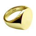 20 x 16mm 18ct Yellow Gold Stamped Plain Oval Signet Rings