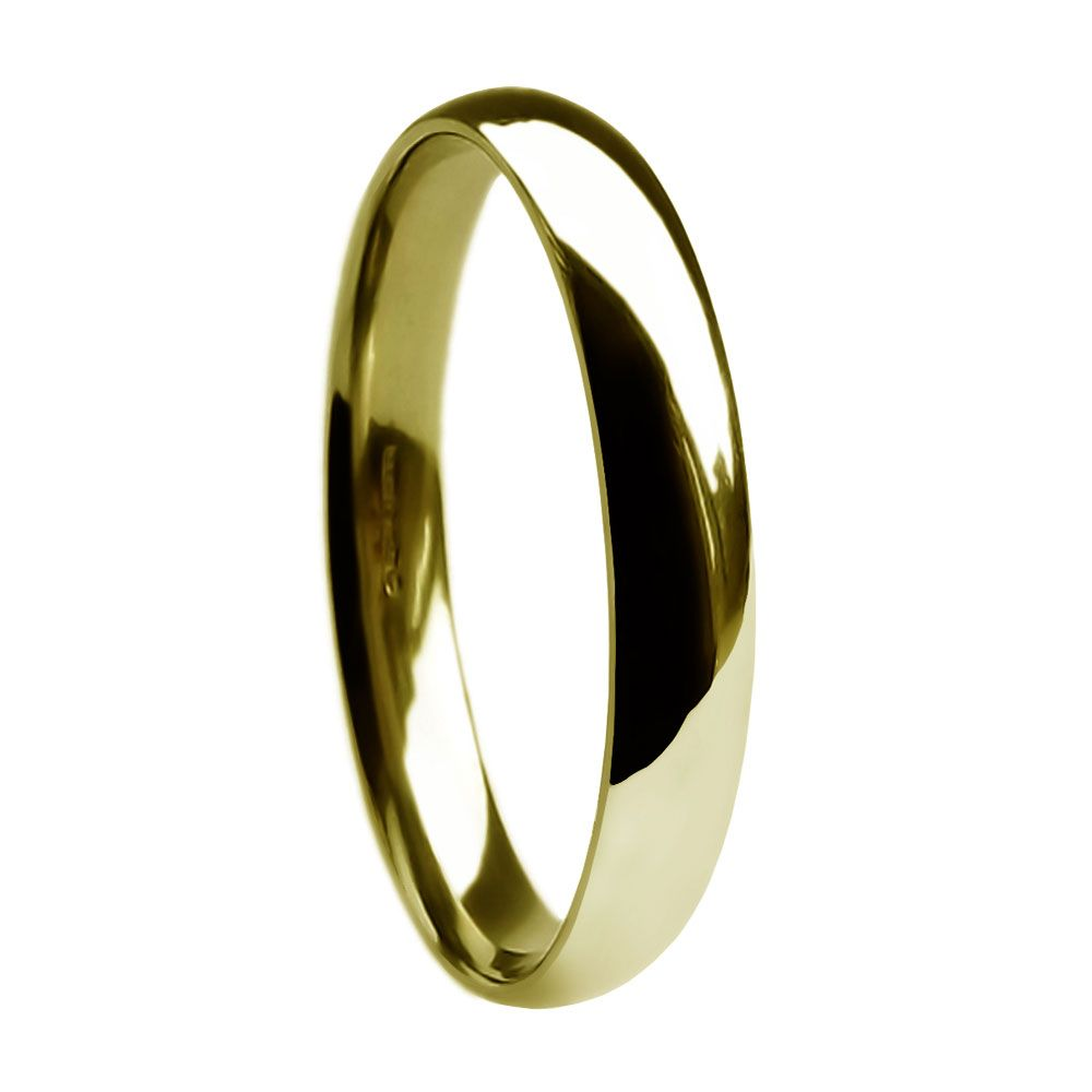 SALE 2.5mm 9ct Yellow Gold Heavy Court Comfort Wedding Ring At Size I ( USA 4 1/4 )