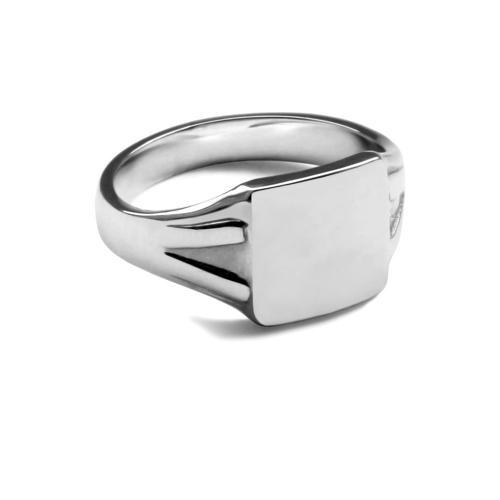 925 Sterling Silver Square Signet Rings 10 x 10mm