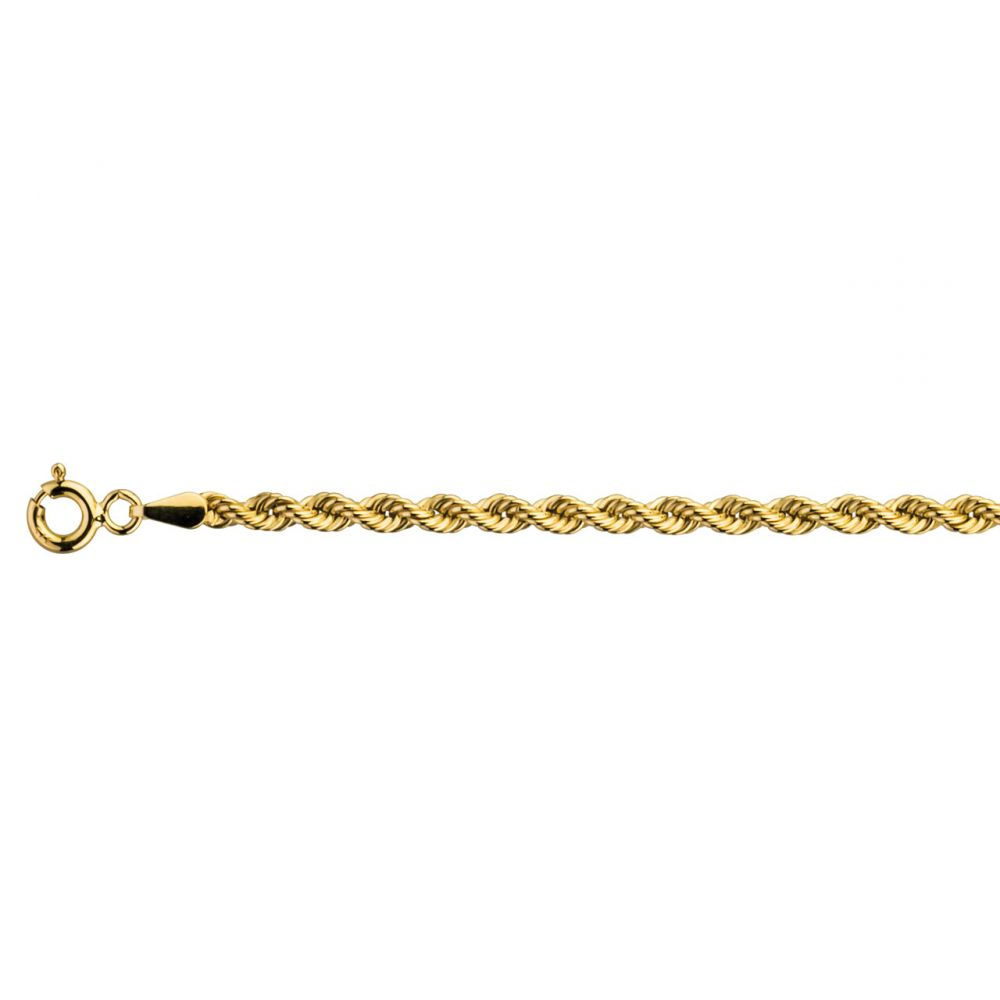 9ct Yellow Gold Rope Chain Hallmarked