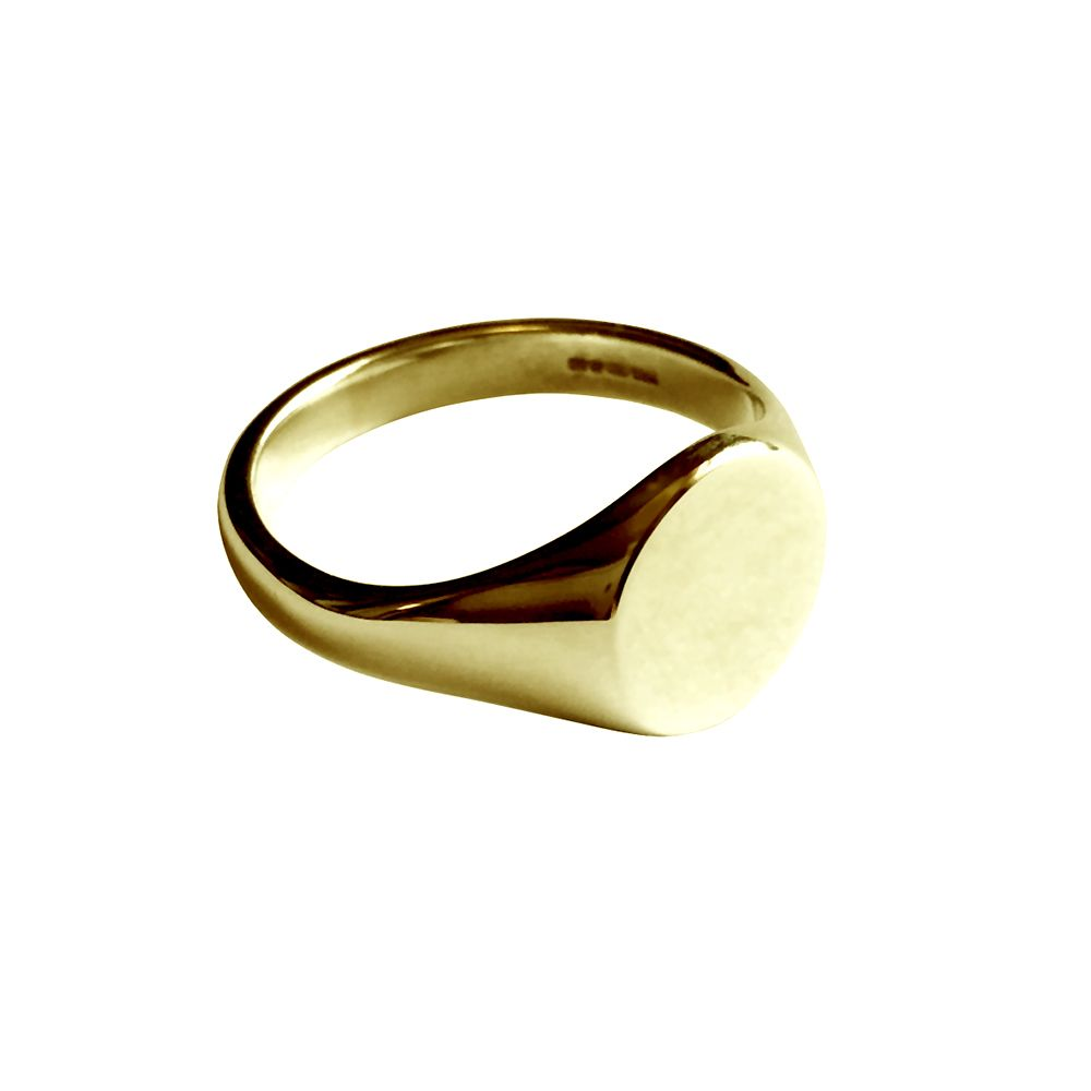9ct Yellow Gold Round Signet Rings 11 x 11mm
