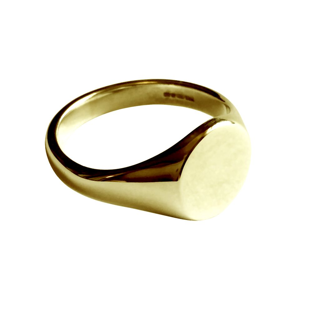 9ct Yellow Gold Round Signet Rings 13 x 13mm