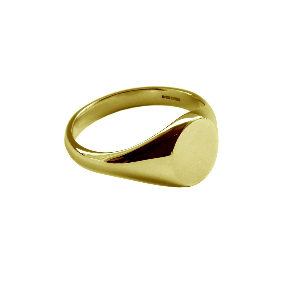 SALE 18ct Yellow Gold Ladies Oval Signet Rings 9.6 x 7.1 x 1.8mm