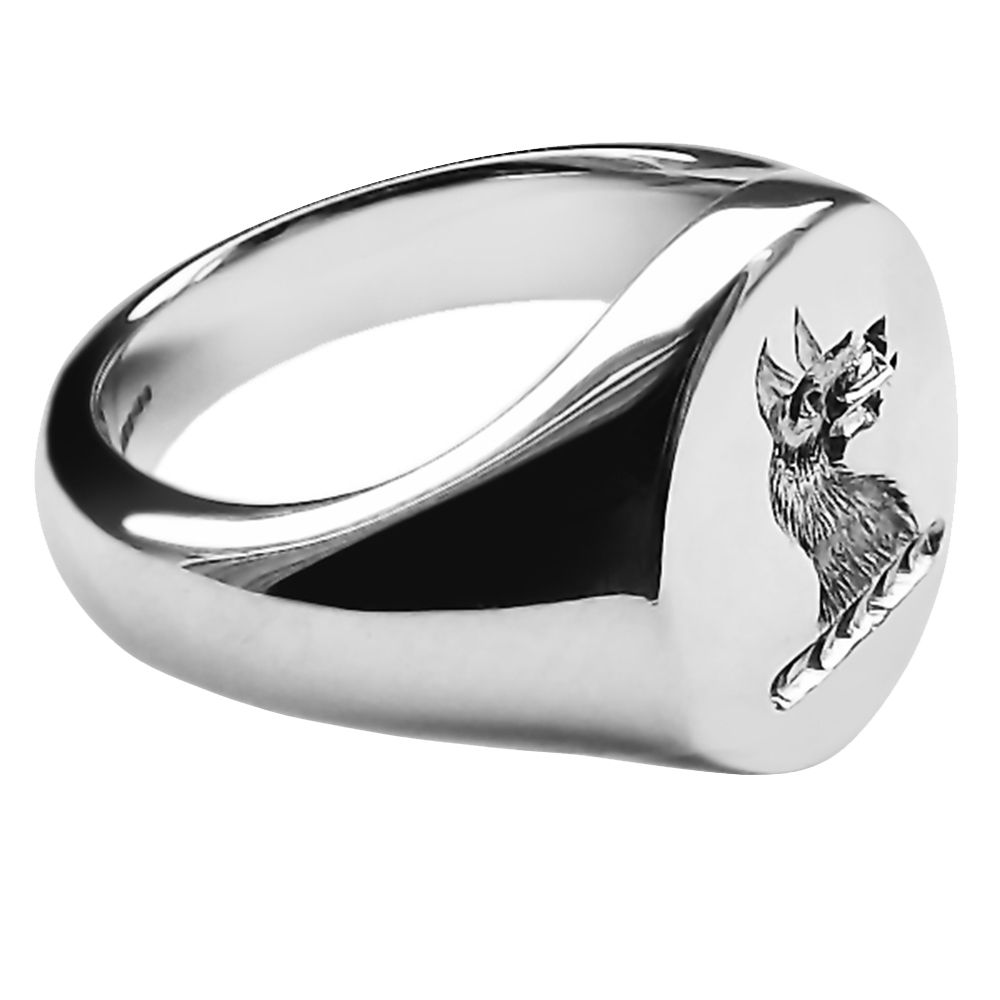 925 Sterling Silver Men's Oval Family Crest Signet Rings 16x13x2.75mm