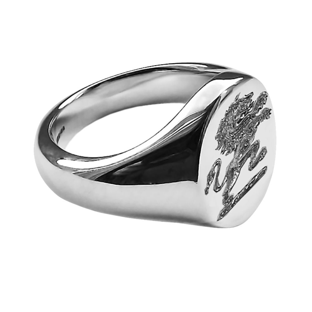 925 Sterling Silver Unisex Oval Family Crest Signet Rings 13x11x2.7mm