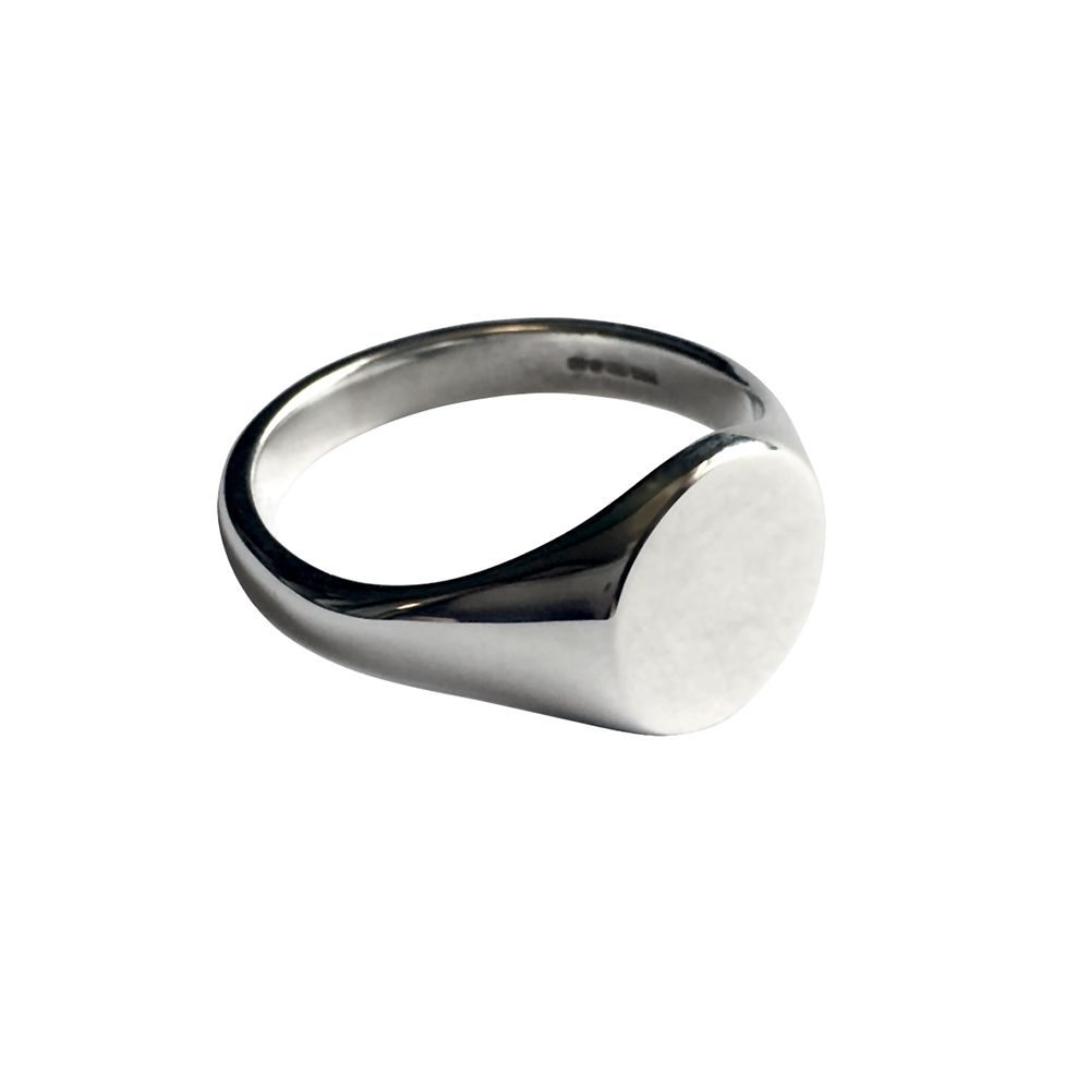 925 Sterling Silver Round Signet Rings 11 x 11mm