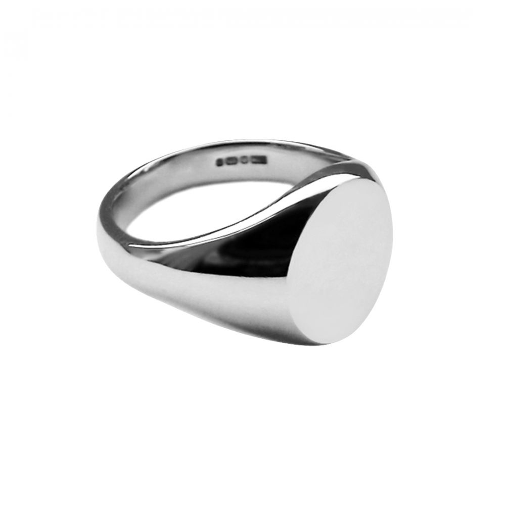 925 Sterling Silver Small Oval Signet Ring 9 x 7mm