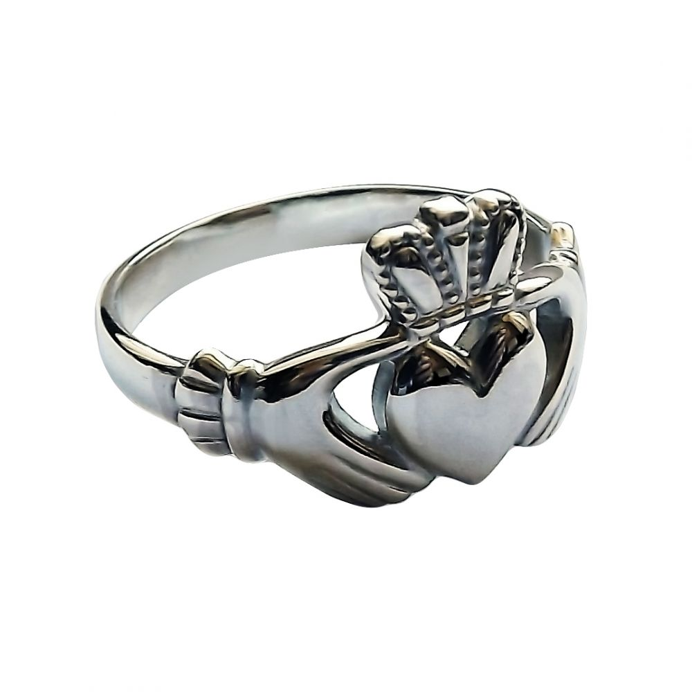 925 Sterling Silver Ladies Irish Claddagh Rings 11.8mm