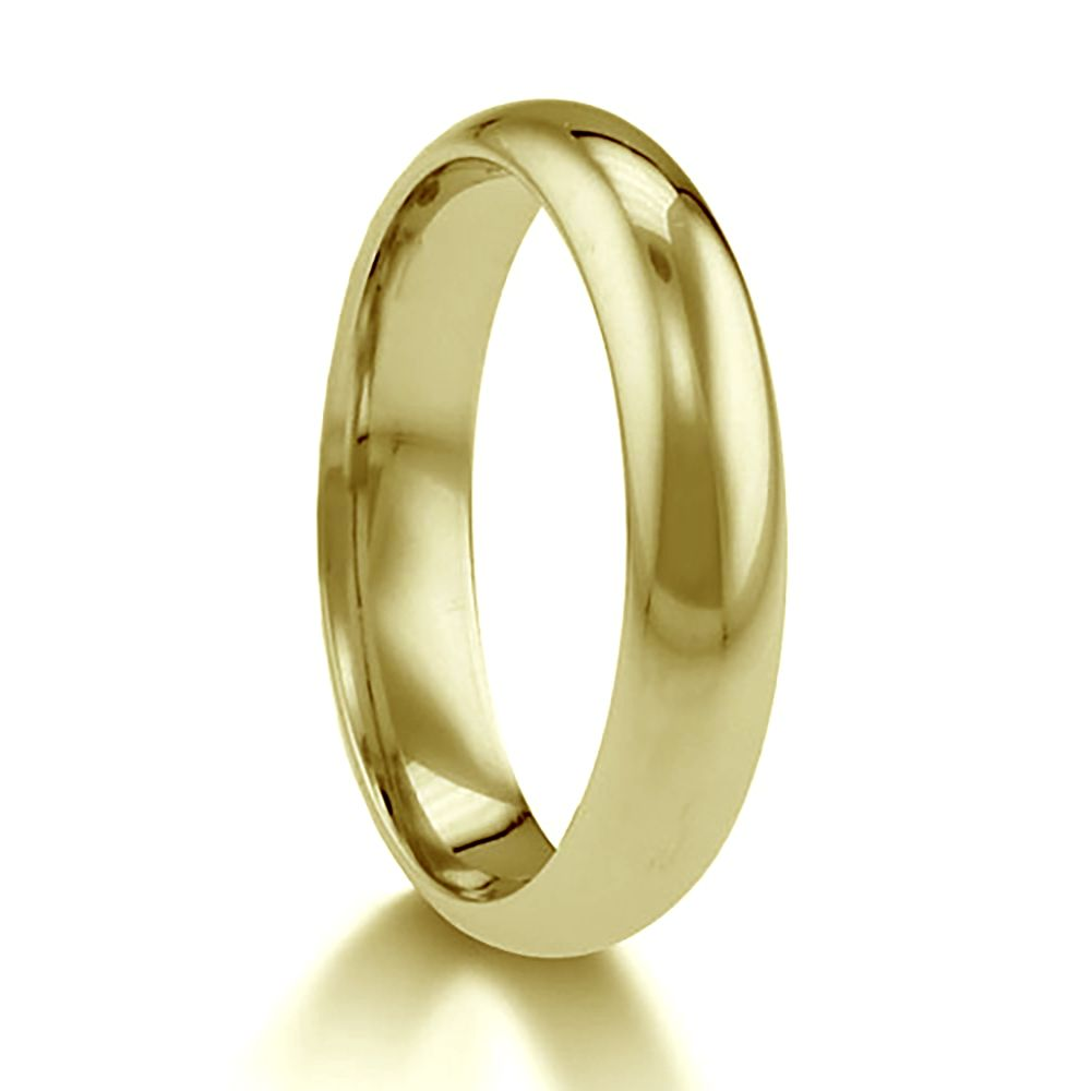 5mm 9ct Yellow Gold Paris Profile Wedding Rings Bands