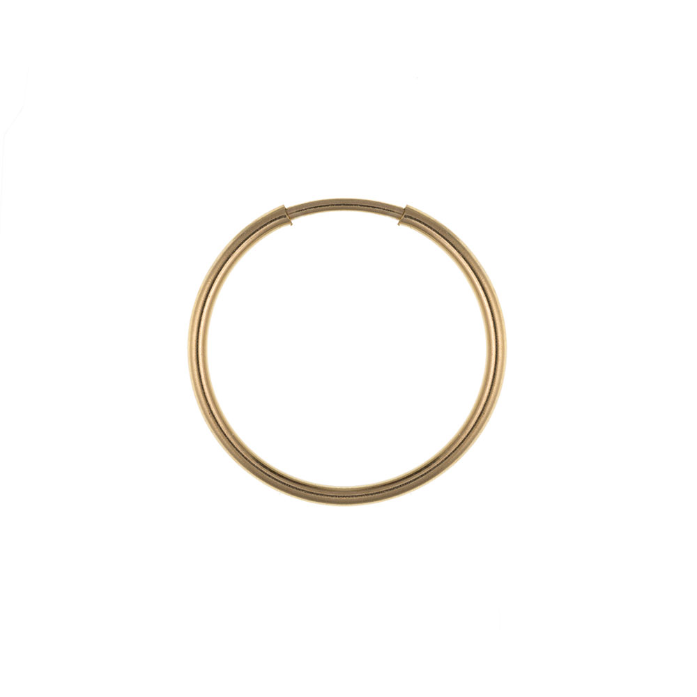 Men's 9ct Yellow Gold 14mm Medium Weight Gents Hoop Earring