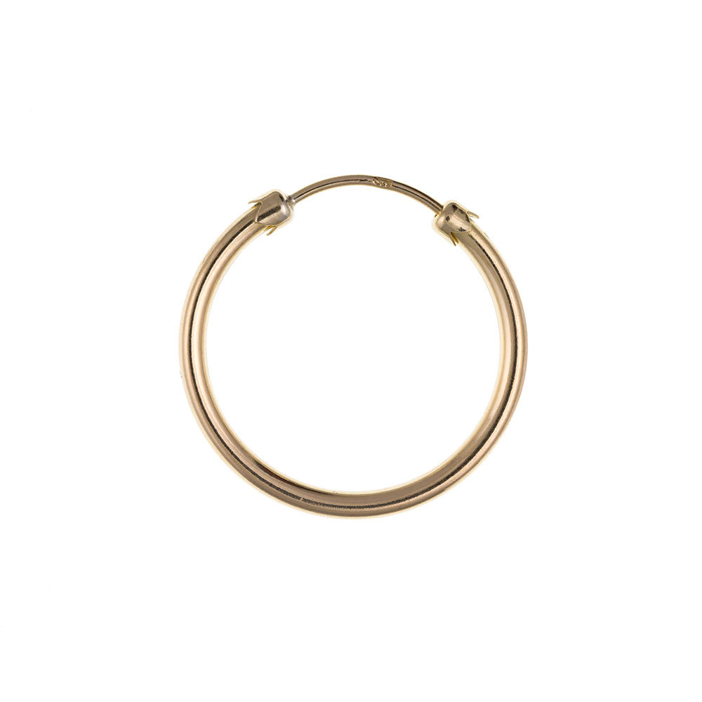 Men's 9ct Yellow Gold 14mm Heavy Weight Gents Hoop Earring