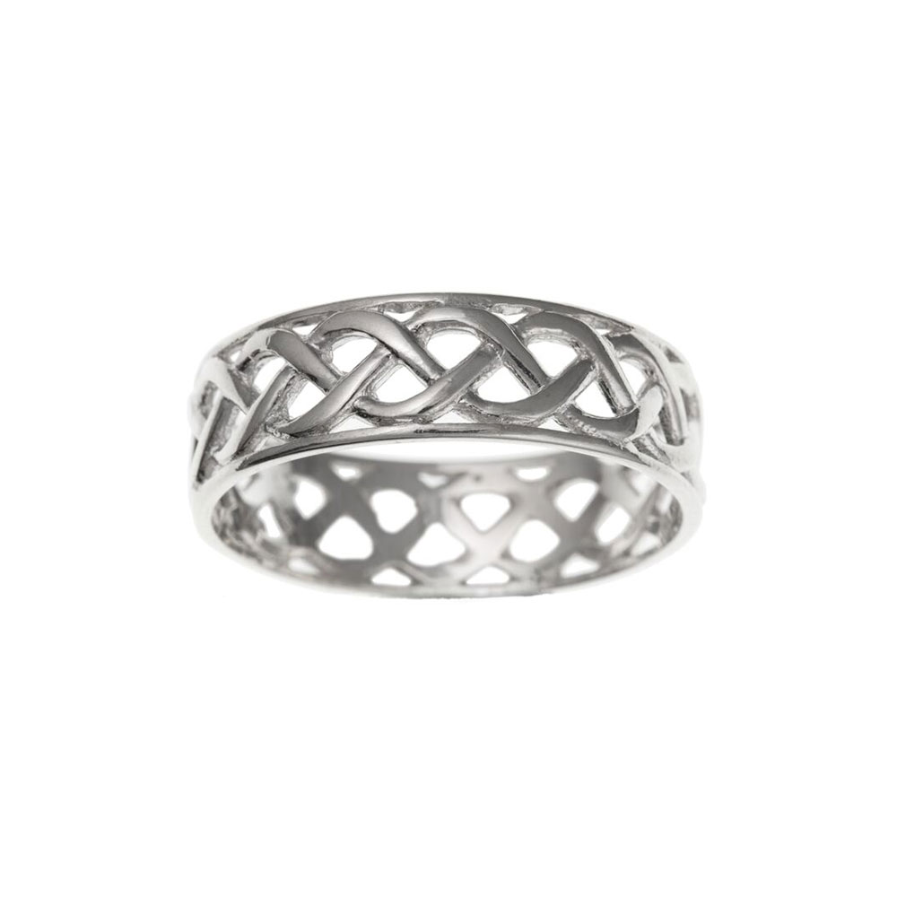 925 Sterling Silver Celtic Style Ladies / Womens Ring 7mm