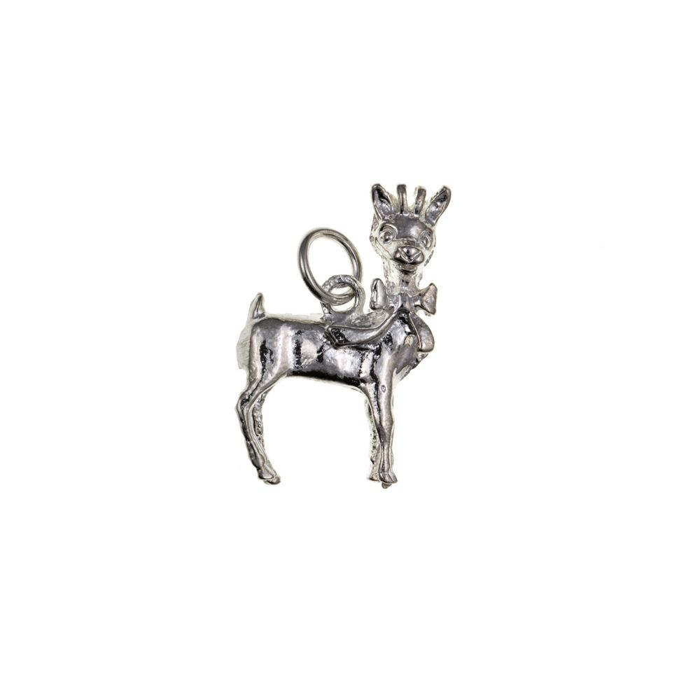 925 Sterling Silver Bambi Deer Charm