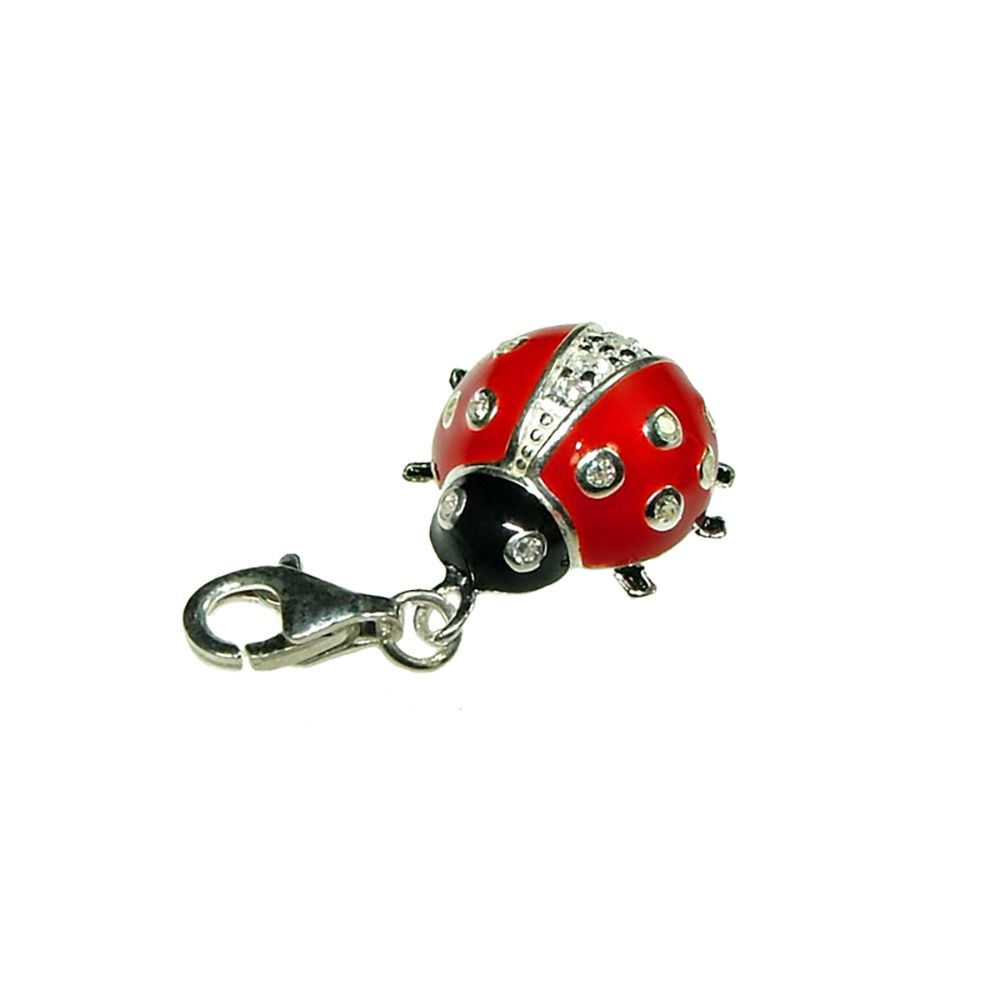 Sterling Silver Inlayed Ladybird Charm