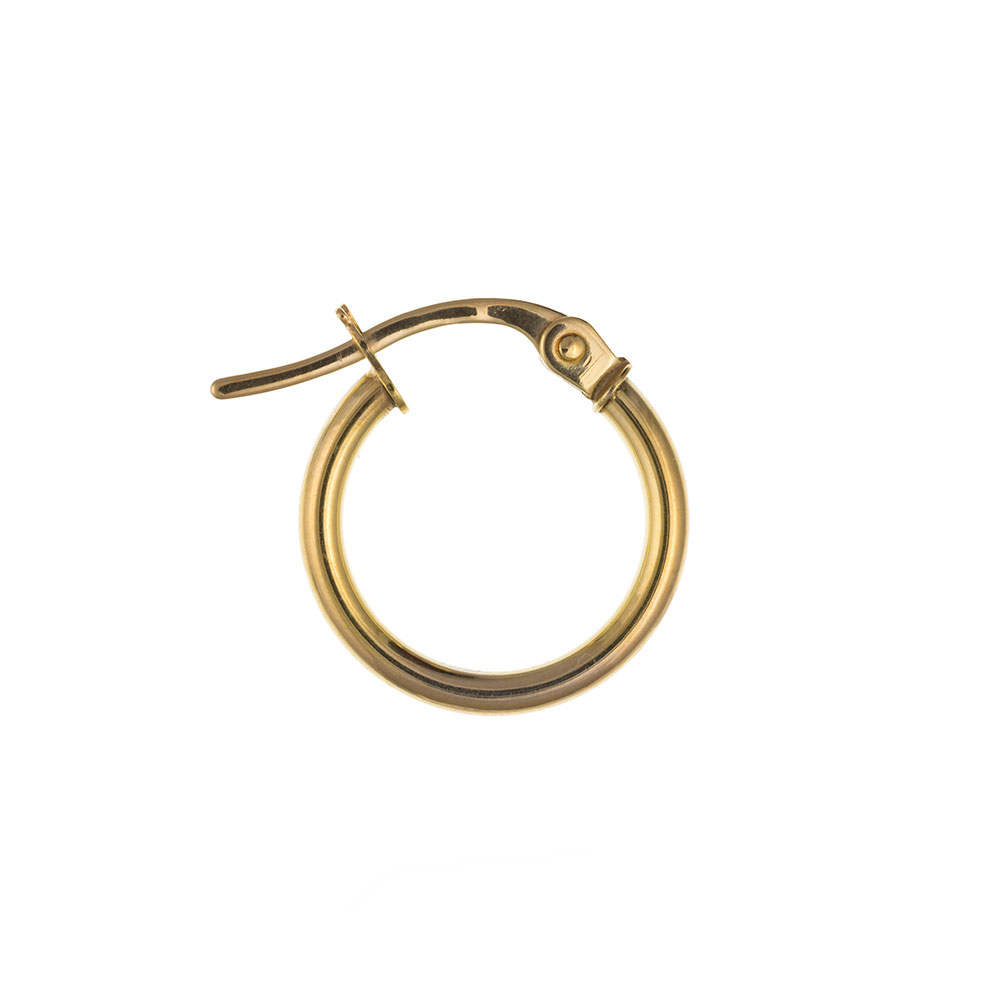 Men's 9ct Yellow Gold 14mm Creole Hoop Earring