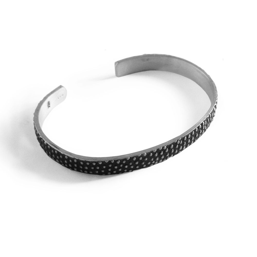 "925 Sterling Silver Oxidized Unisex Heavy Mexican Bracelet 7.5"" x 7mm 22g"