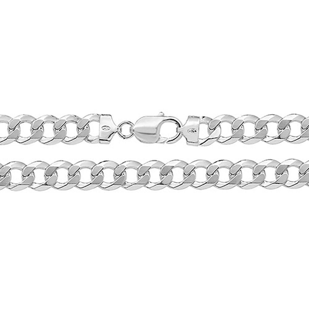 925 Solid Sterling Silver Men's 10mm Heavy Curb Chain