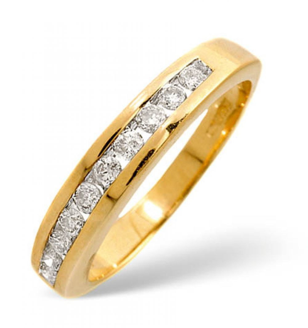 9ct 0.33ct Gold Half Eternity Diamond Ring