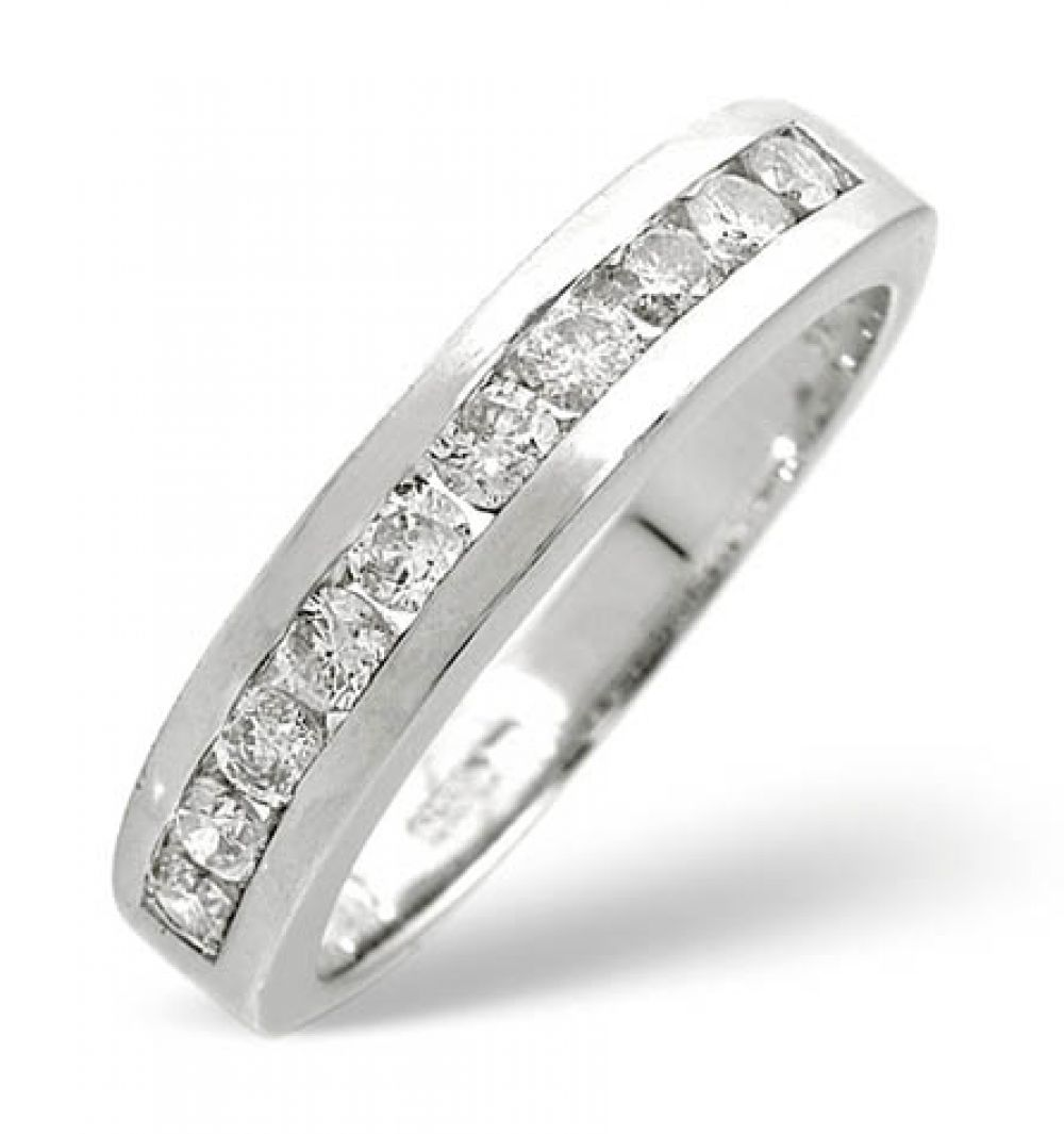 9ct 0.50ct Gold Half Eternity Diamond Ring