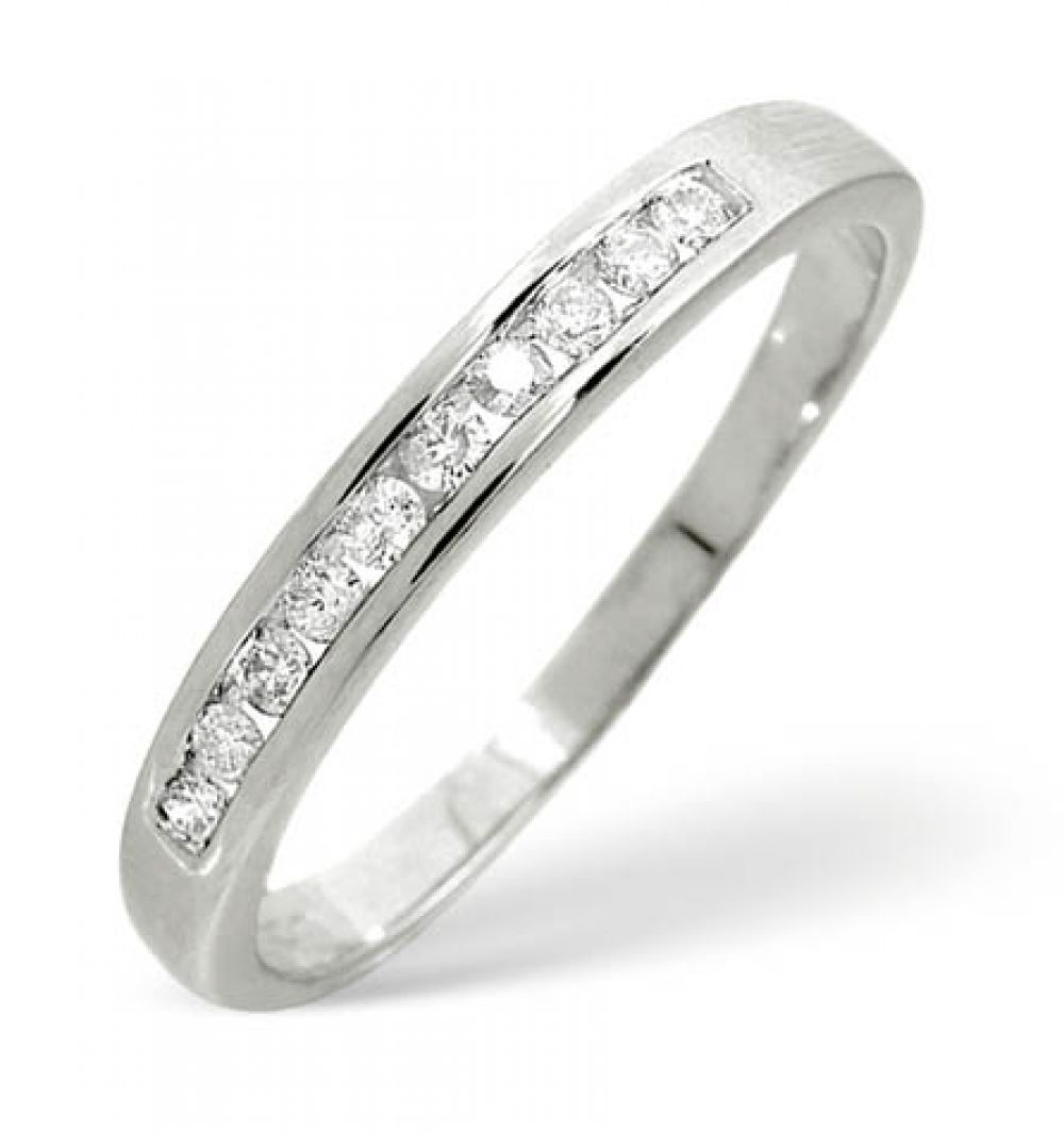 9ct 0.20ct Gold Half Eternity Diamond Ring