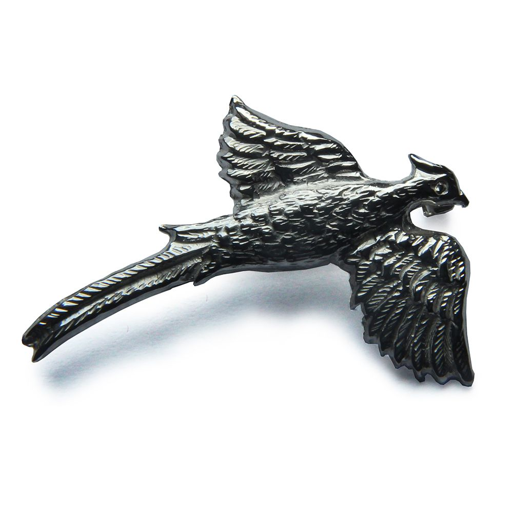 925 Sterling Silver Pheasant Brooch 38 x 30 x 8mm