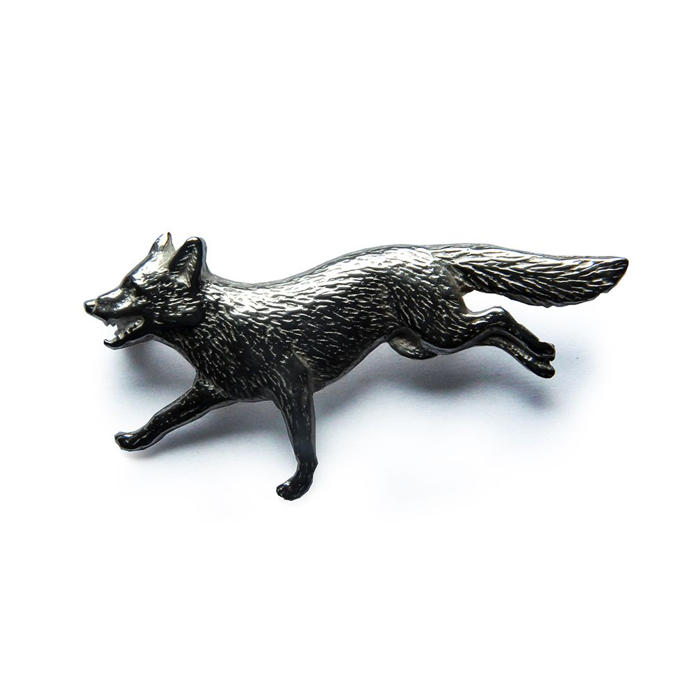 925 Sterling Silver Fox Brooch 45 x 22 x 8mm