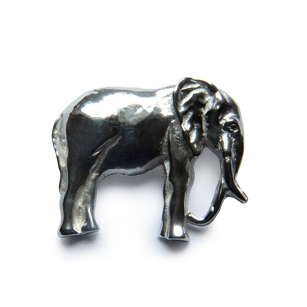 925 Sterling Silver Elephant Brooch 30 x 30 x 8mm