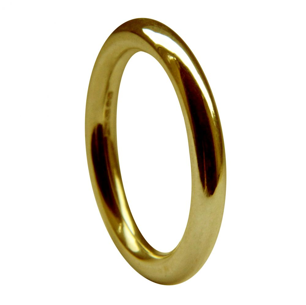 3mm 9ct Yellow Gold Halo Wedding Rings Bands
