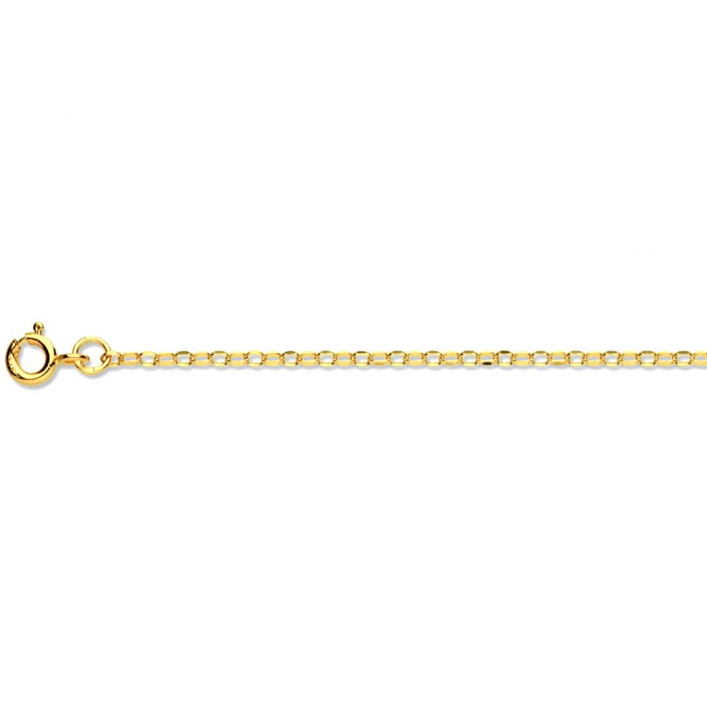9ct Yellow Gold 2 Diamond Cut Belcher Chain Hallmarked