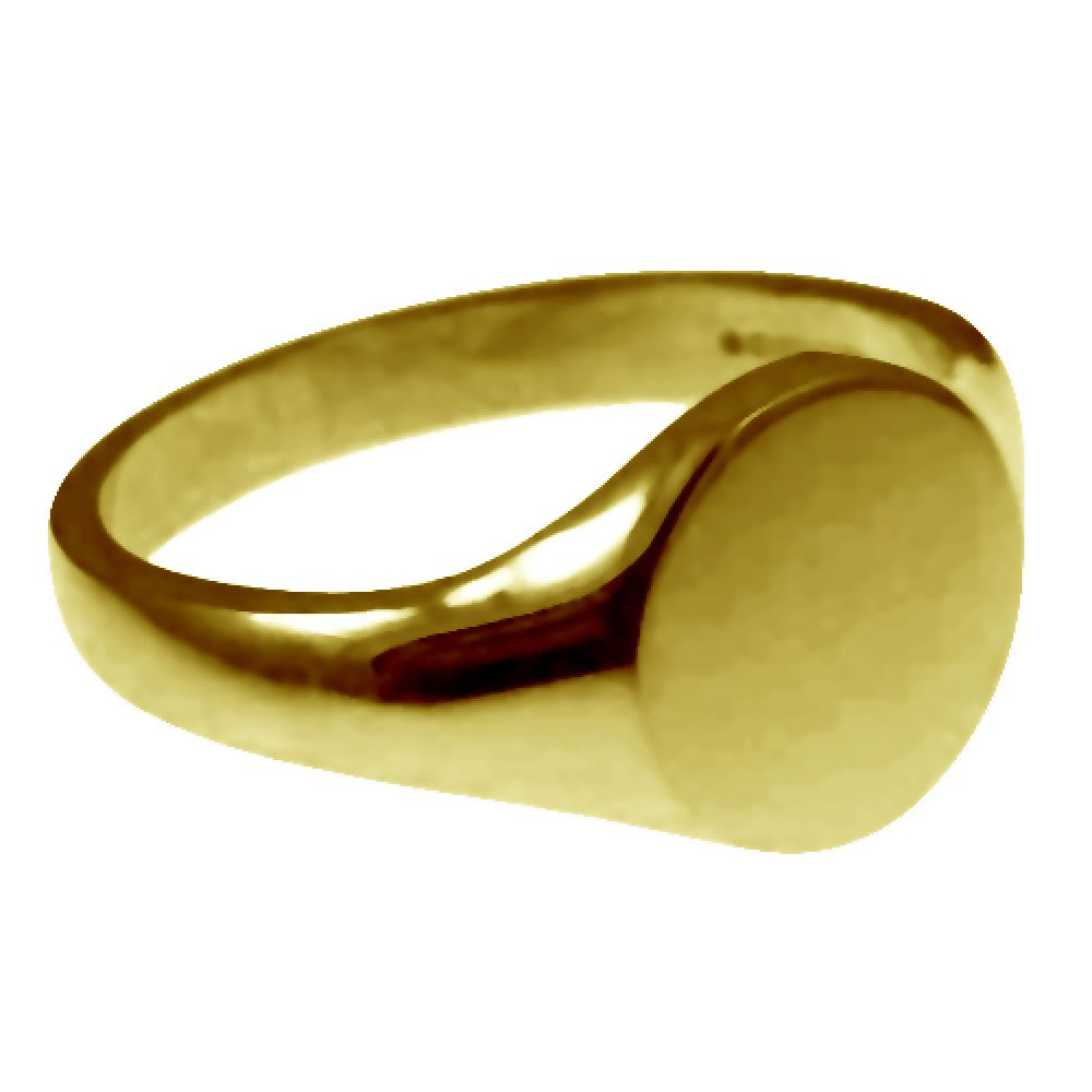 18ct Yellow Gold Round Signet Rings 11 x 11mm
