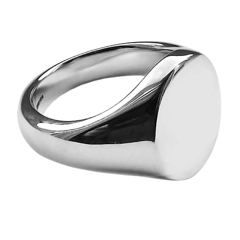 SALE 925 Sterling Silver Oval Signet Rings 16x13mm At Size S