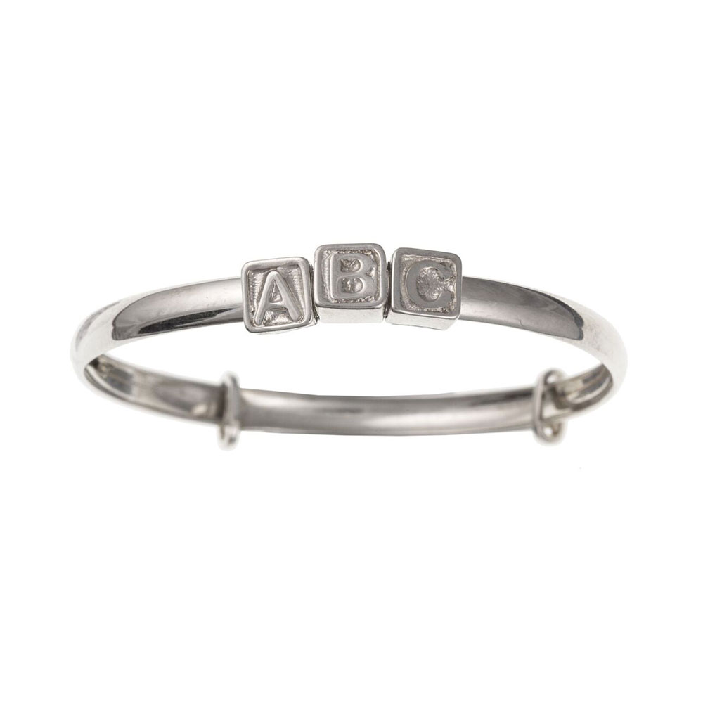 "Sterling Silver 5mm ""ABC"" Expanding Bangle UK 925 HM"