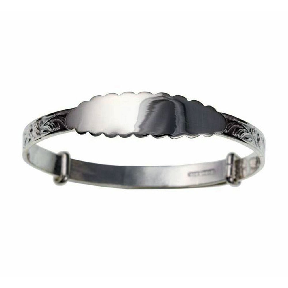 925 Sterling Silver Ladies Expanding ID Bangle