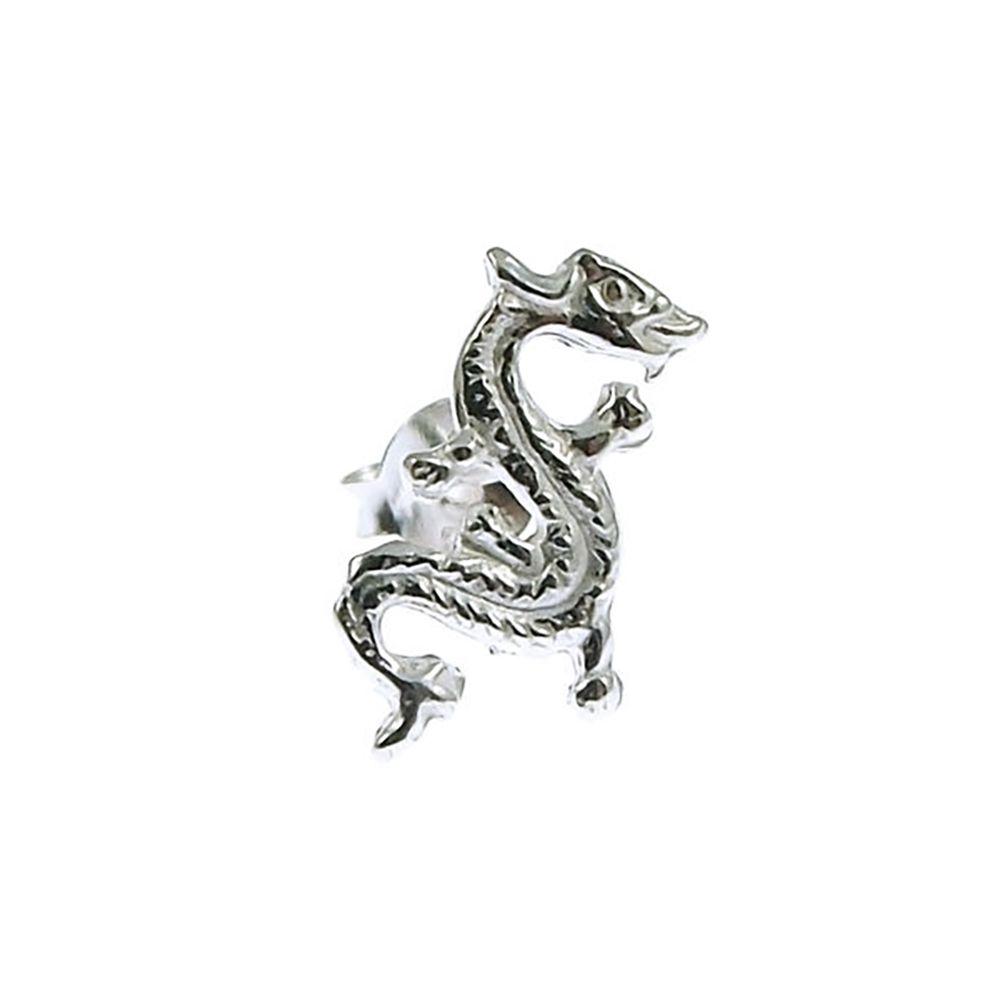 Men's 925 Sterling Silver Dragon Stud Earring