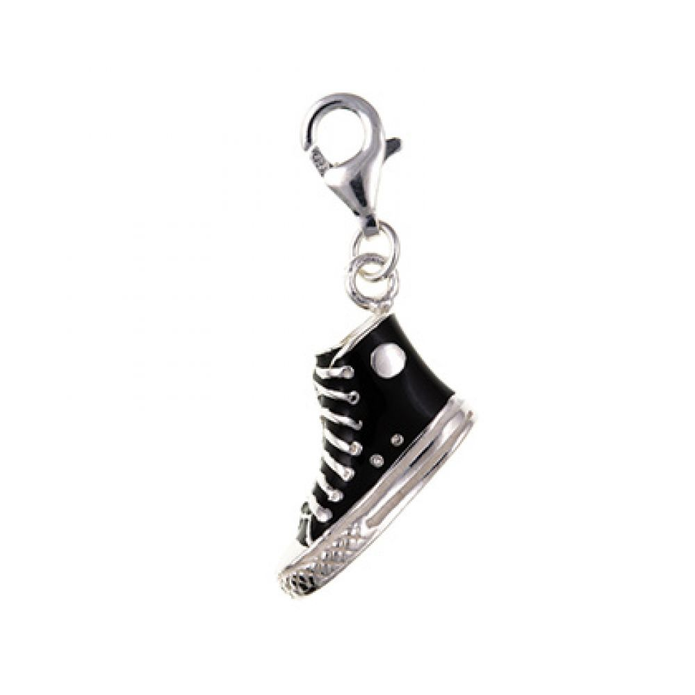 Sterling Silver Inlayed Baseball Boot Charm