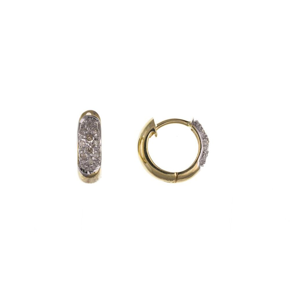 9ct Yellow Gold Men's Single Diamond Huggie Earring