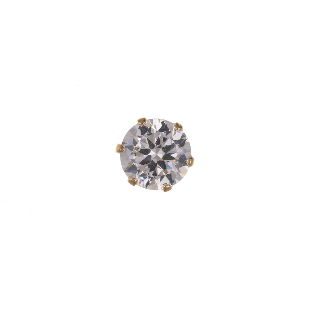 Men's 9ct Yellow Gold 5mm CZ Gents Stud