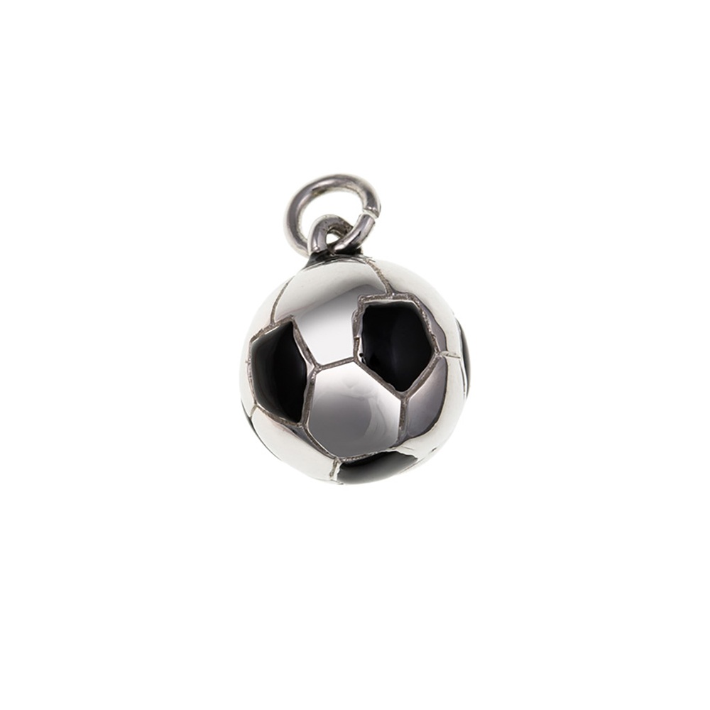 925 Solid Sterling Silver 3D Football Charm
