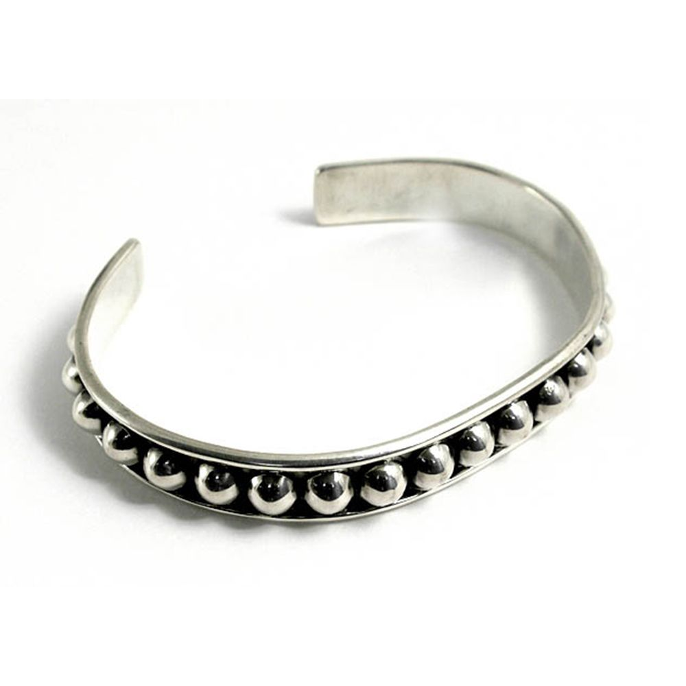 925 Sterling Silver 12mm Unisex Heavy Mexican Bracelet 30g