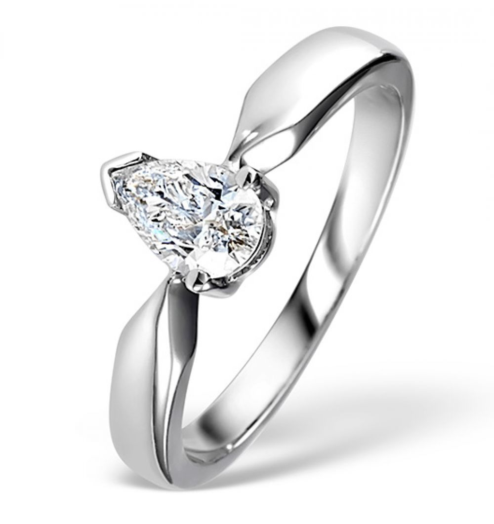 950 Platinum 0.50ct G/VS Diamond Solitaire Ring