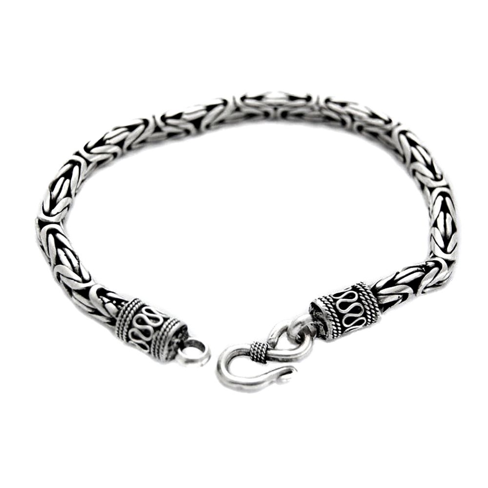 Unisex Genuine 5mm Thai Solid Silver Bracelet 925 Stamped